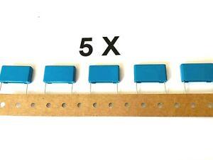 5 x 2,2uF, 100V-, 63V~, 5%, +125°, RM=22,5, Epcos/TDK, B32523Q1225J189,  5 Stück