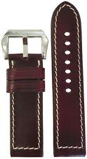 22x22 Dark Burgundy Chromexcel Vintage Leather Watch Strap -  Made in the USA