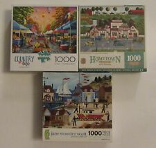 Lot of 3 1000 Piece Jigsaw Puzzles Buffalo , Ceaco, & Masterpieces