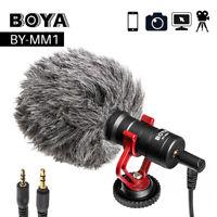 New Boya BY-MM1 BY Shotgun Video Microphone Record Mic for DSLR Youtub Vlogging