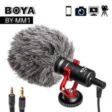 Boya BY-MM1 BY Shotgun Video Microphone Recording Mic Directional Condenser New