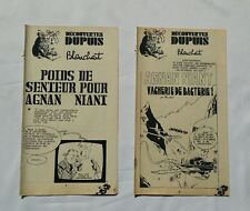 BD - Lot 2 Supplement Spirou Agnan Niant 1922 1942 / Blanchart / Decouvertes