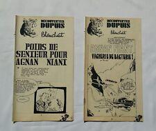 BD - Lot 2 Supplement Spirou Agnan Niant 1922 1942 / Blanchart / Decouvertes