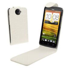 Flip Case HTC One X Tasche Weiß
