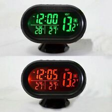 Digital Car Clock & Date Indoor Outdoor Thermometer & Voltage Monitor