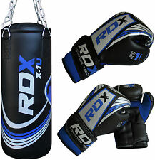 RDX MMA Kinder Boxsack Set Gefüllt Kickboxen Thai Sack  Boxen Junior Handschuhe