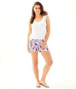 Lilly Pulitzer NWT Callahan Knit Shorts High Tide Its For Shore $68
