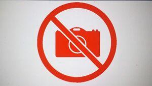 2 x 10cm No Photography Vinyl Sticker Decal Shop Sign Wall Door Camera sticker