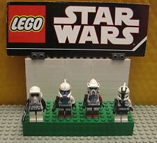 """STAR WARS LEGO LOT  MINIFIGURE--MINI FIG  """" LOT OF 4    ARF TROOPERS & SCOUT  """""""