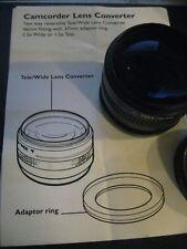 Camcorder Lens Converter  Wide Angle / Tele Lens 46mm Fitting 37mm Adaptor Ring
