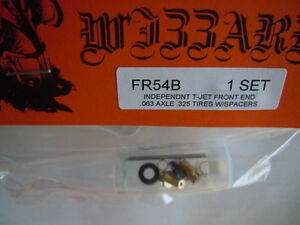Wizzard T-Jet  Brass Slot Car Front Wheel and Tire Kit ~ Free USA Shipping