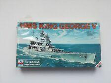 KIT DI MONTAGGIO ESCI 1/1200 419 NAVE HMS KING GEORGE V NUOVO E RARO! OTTIMO!!!