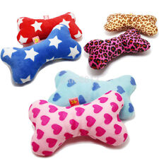 Cute Pet Dog Puppy Bone Pillow Shape Chew Sound Squeaker Squeaky Training Toy