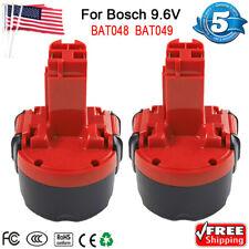 2X 9.6V 2.0Ah Ni-cd Battery for Bosch BAT048 BAT100 BAT119 BAT049 BH984 BPT1041