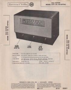 1951 RCA VICTOR X711 RADIO SERVICE MANUAL PHOTOFACT SCHEMATIC RC-1070A DIAGRAM