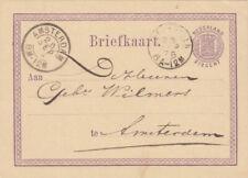 Briefkaart 25 sep 1876 Heerenveen (tweeletter) naar Amsterdam