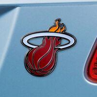 Miami Heat Heavy Duty Metal 3-D Color Auto Emblem