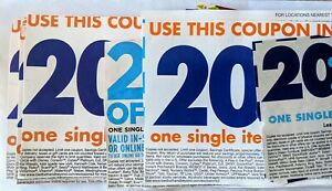 20 coupons BBB Bed Bath & Beyond stores now Save 20% off any item exp lot value