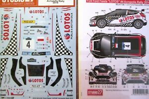 DECAL: 1/24 S271079 2014 LOTOS FORD FIESTA WRC ACROPOLIS RALLY