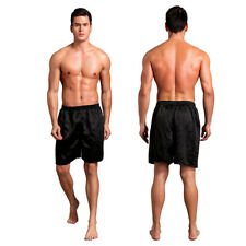 Men Stain Silk Pants Solid Color Boxer Casual Beach Pants Men's Pajama Trousers