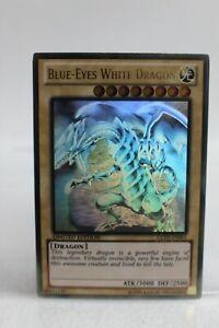 Yugioh Card - Blue Eyes White Dragon GLD5-EN001 Gold Ghost Rare LE - LP