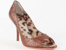 New Roberto Cavalli  Brown Leather Shoes Size 37 US 7