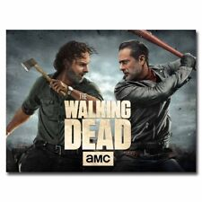 The Walking Dead Negan & Rick 20x26inch TV Shows Silk Poster Hot Room Door Decal