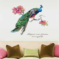 Branches Peacock Room Home Decor Removable Wall Sticker Decals Decoration
