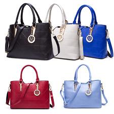 Da Donna Borsa in PU Pelle a Mano Spalla Tracolla Handbag Borsetta Moderno Nuovo