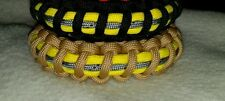 Paracord  Reflective Firefighter Bunker Gear Bracelet****