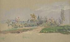 Reiterdenkmal (evtl. Friedrich Franz II. / Schwerin). - Öl-Studie