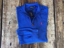 Polo Ralph Lauren Mens Big Tall Half-Zip Sweater Pima Classic Royal Mens 2XB New
