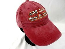 Mt. St. Helens Ape Cave National Volcano Monument Strap Back Hat Ball Cap Red