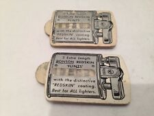 2 Vintage Ronson Redskin Flint Holders From the 1940's