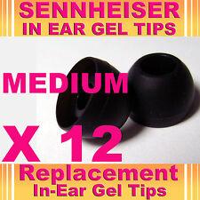 12 Sennheiser CX IE In Ear Buds HeadPhones Headset Earphones Gel Tips Medium