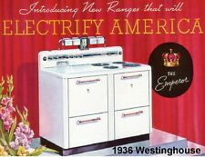 1936 Westinghouse Electric Stove  Refrigerator / Tool Box  Magnet
