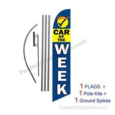 Car of the Week 15' Feather Banner Swooper Flag Kit with pole+spike