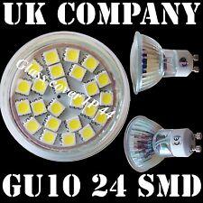10 x GU10 - 24 Smd Jour Blanc remplace 40/50W Ampoule Halogène TVA Facture Garantie