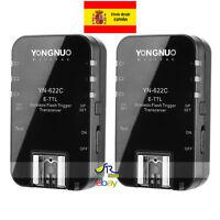 Disparador Flash Inalámbrico Yongnuo YN-622C Wireless TTL Trigger HSS Canon