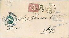 ITALIA REGNO: ANNULLO NUMERALE 2422 - VESTONE su francobollo di SERVIZIO 1875