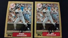 Paul Zuvella Yankees 1987 Topps #102 Braves Signed Authentic Autograph JA15