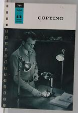 Kodak Advanced Data Book Copying 1962 M-1 Promo - English - USED B109E