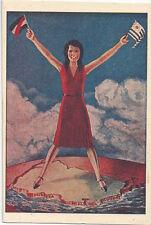 1930's Republica Oriental del Uruguay - Poster Art, Patriotic, Flag, Sexy Woman