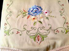 Magnifique Vintage main brodé Sofa/Canapé & Chaise Arrière Set