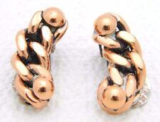 VTG Matisse RENOIR Signed Copper RARE SLAVE Chainlink Clip Earrings