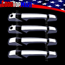 For GMC YUKON 2007-2011 2012 2013 2014 Chrome 4 Door Handle Covers WITH Keyhole