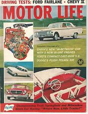 1961 MOTOR LIFE November Chevy II DODGE POLARA Thunderbird Chrysler 300 Rambler