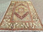"Vintage Bergama Rug Anatolia Carpet Distressed Rug Handmade Rug Teppich 69""X106"""
