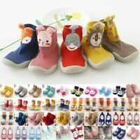 Toddler Baby Boys Girls Socks Booties Anti-slip Shoes Slippers Floor Soft Socks
