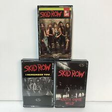 Skid Row Cassette Tape Lot of 3 18 And Life Youth Gone Wild I Remember You Metal
